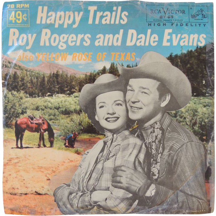 roy rogers and dale evans record happy trails from. Black Bedroom Furniture Sets. Home Design Ideas