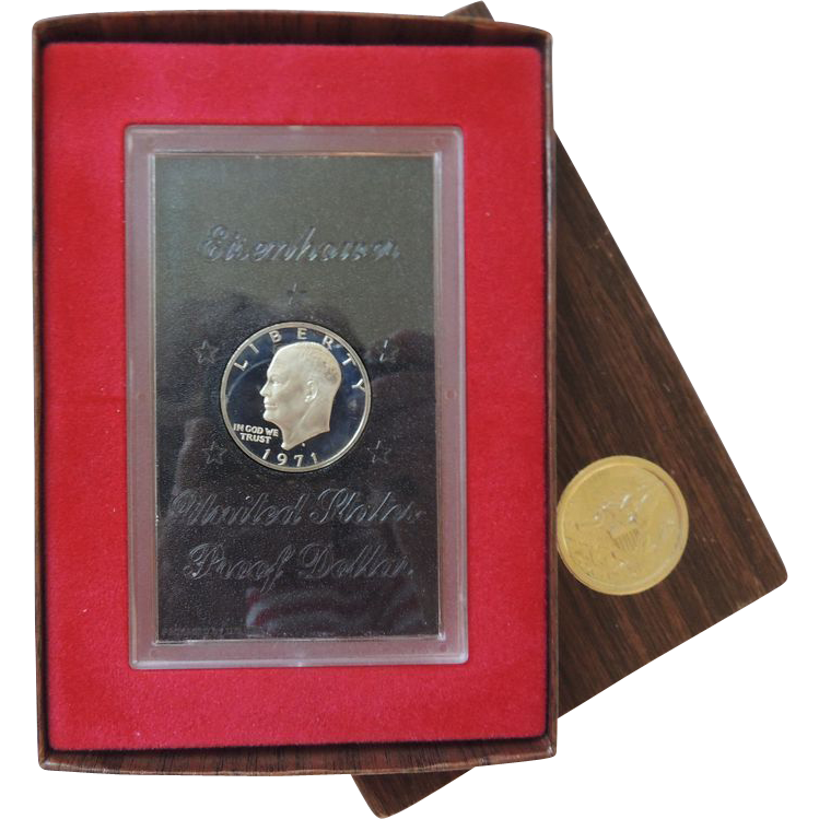 1971 Brown Ike Eisenhower Dollar Proof From