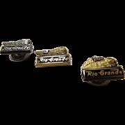 3 Rio Grande Railroad Employee Recognition Pins
