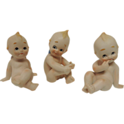 3 Bisque Kewpie Figurine Dolls