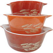 3 Pyrex Autumn Harvest Casserole Set