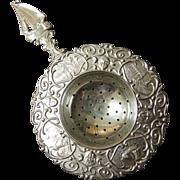 Vintage Dutch Silver Plated Tea Strainer