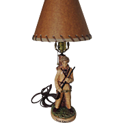 Davy Crockett Lamp