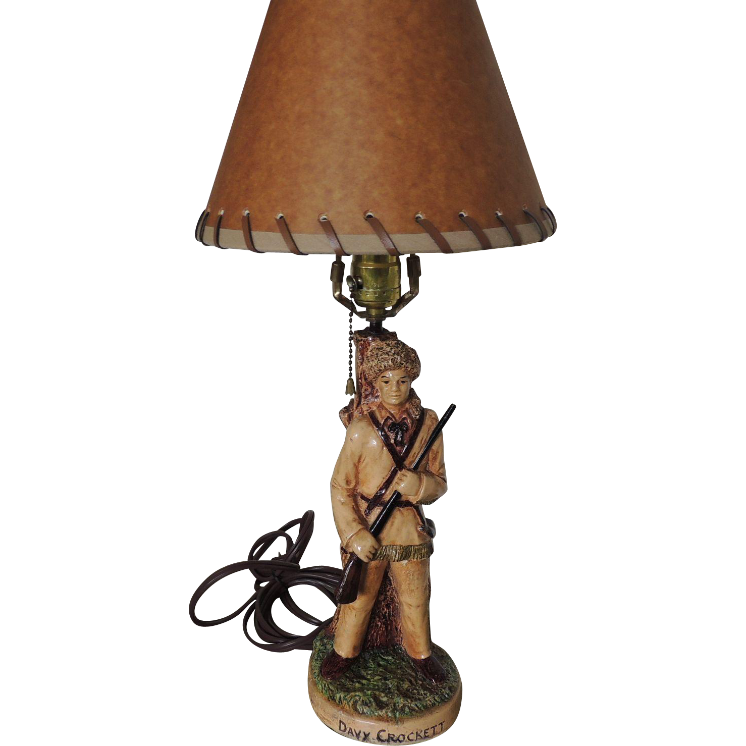 Davy Crockett Lamp Sold On Ruby Lane