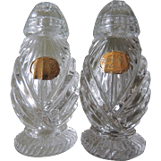 Bohemian Glass Salt And Pepper Shakers Czechoslovakia