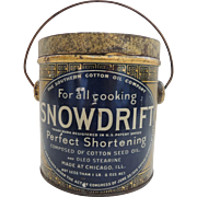 Vintage Snowdrift Shortening Advertising Tin