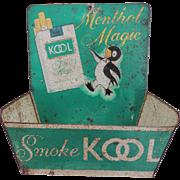 Vintage Kool Tobacco Tin Advertising Match Holder Store Display