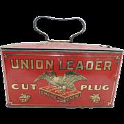 Union Leader Cut Plug Advertising Tobacco Tin