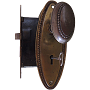 Vintage Door Knobs Back Plates Lock And Key