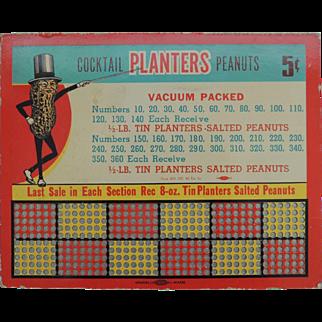 Vintage Advertising  Planters Peanut Punch Board