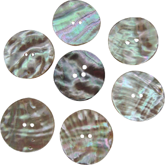 7 Large Iridescent Mother Of Pearl Buttons