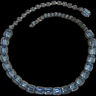 Weiss Blue Rhinestone Necklace