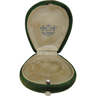 Vintage Velvet Jewelry Presentation Box