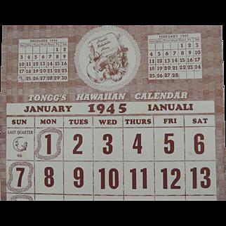 1945 Tongg's Hawaiian Calendar