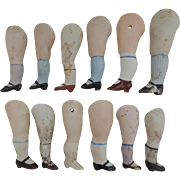 Bisque Doll Legs for Restoration use or Repair