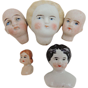 Bisque and China Doll Heads for Repair