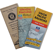 3 Union Pacific Railroad Time Tables