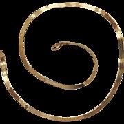 Herringbone Necklace Chain 14k yellow gold