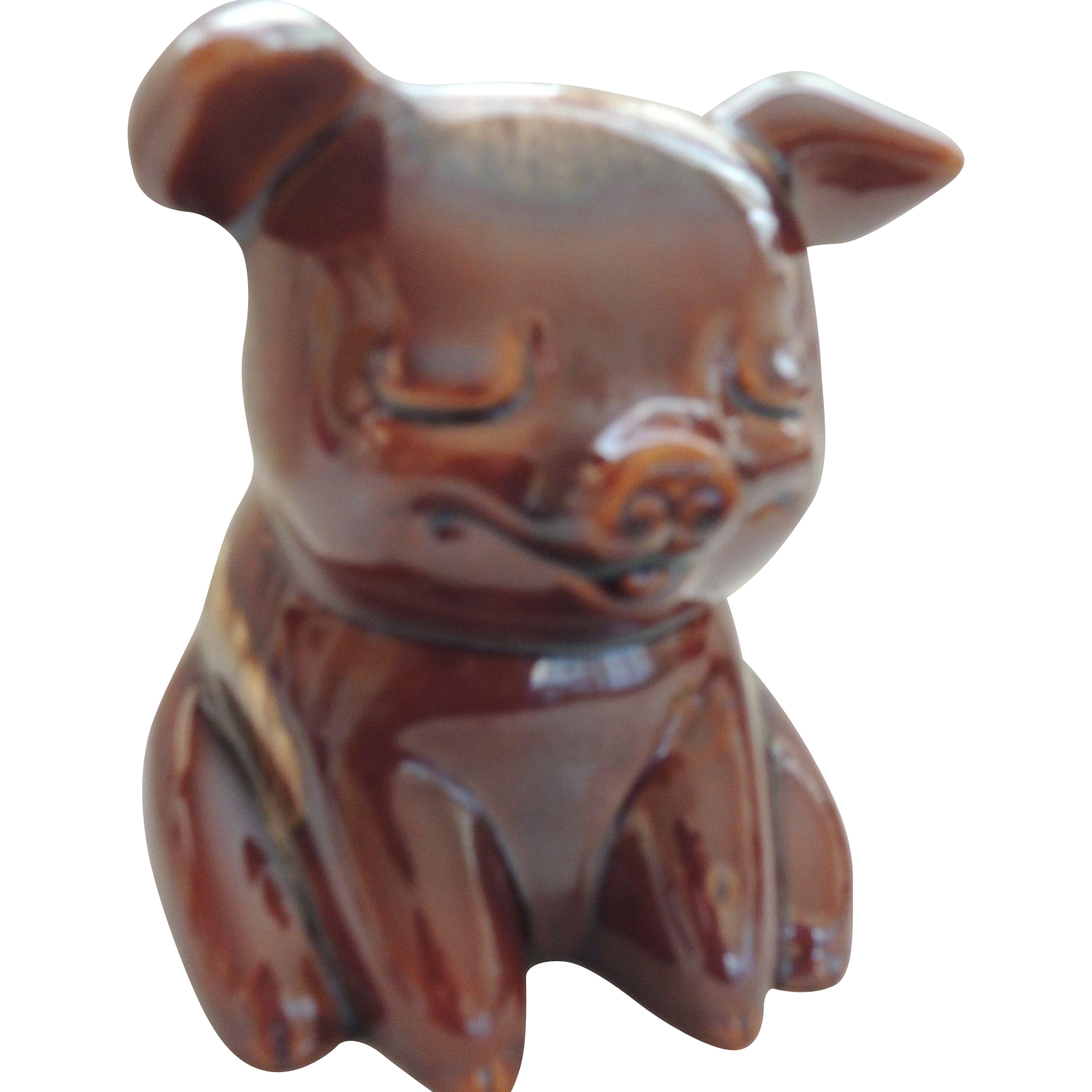 Hull Pottery Pig Bank : Hand To Heart Antiques