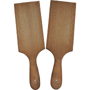 Pair of Vintage Wood Butter Paddles