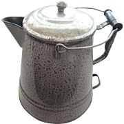 Large Enamelware Coffee Pot Graniteware