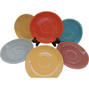 Vintage Homer Laughlin Fiestaware saucers