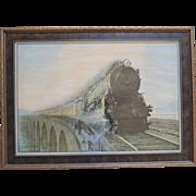Harold M. Brett Pennsylvania Railroad Framed Print Speed and Security