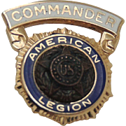 14K Gold American Legion Pin