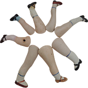 Vintage Bisque Doll Legs for Repairs
