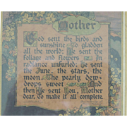 Buzza Mother Motto Print Framed