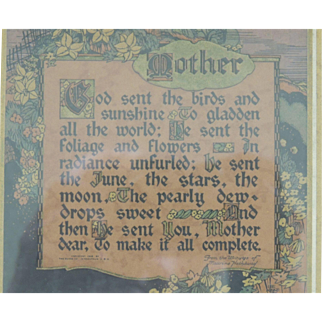 Buzza Mother Motto Print Framed