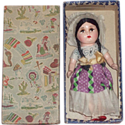 "c1930's International 8"" Doll from Mexico in Original Box"