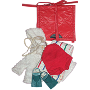 Vogue Ginny - Red Bathing Suit, Bathing Mat, Beach Towel and Flippers