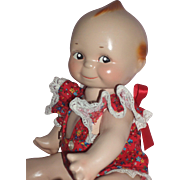 "Adorable 12"" Composition Kewpie Doll - Restored"