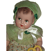 "1930's 18"" Ideal Flirty Eye Mama Doll in Vintage Outfit"