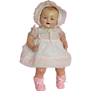"c1920's 20"" Composition Mama Baby Doll w/accessories"