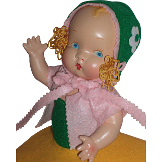 "Beautiful HTF c1937 Harriet Flanders - Little 12"" Cherub Composition Doll"