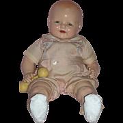 "Big Happy Baby Boy - c1928 - 22"" Baby Dimples A/O - EI Horsman"
