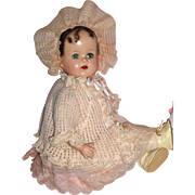 "Early Ideal – Miracle on 34th Street Doll 18"" A/O"