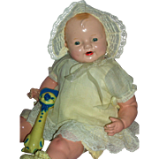 Happy Baby Girl Mama Doll – Unmarked Composition Doll c1920's -1930's
