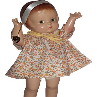 "Wonderful 13"" Effanbee Patsy Ann Doll A/O"