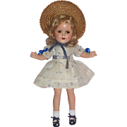 "HTF - 13"" Ideal Ginger Doll with Wonderful Original Outfit c1930's"