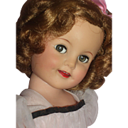"19"" Ideal Shirley Temple with Twinkle eyes c1959-1960 in Original Dress"