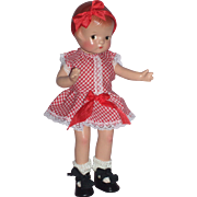 "Precious little 9"" Patsyette – Made by Effanbee in c1930's – 1940's in Vintage outfit."