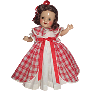 "Darling 15"" R & B Composition Doll in Factory Dress"