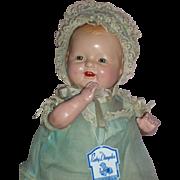 """Precious 17"""" Baby Dimples by E.I. Horsman – A/O c1928"""