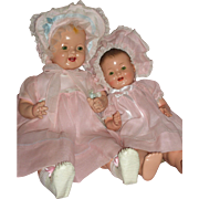 "Darling pair of Effanbee – Lovums Baby Dolls 17"" & 22"" c1930's"