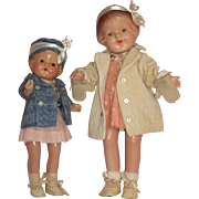 Wonderful Pair of Patsy-like Composition Dolls – Unmarked c1920's