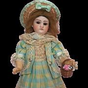 "Wonderful All Original 10"" German Bisque Head Dolly – Marked ""C"""