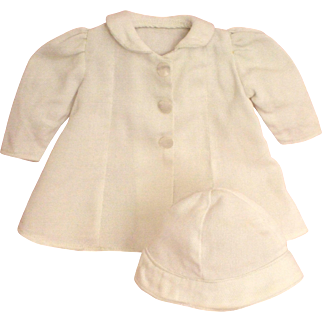 """2-Piece Vintage Spring Coat & Hat for 13"""" – 14"""" Patsy Ann Doll"""